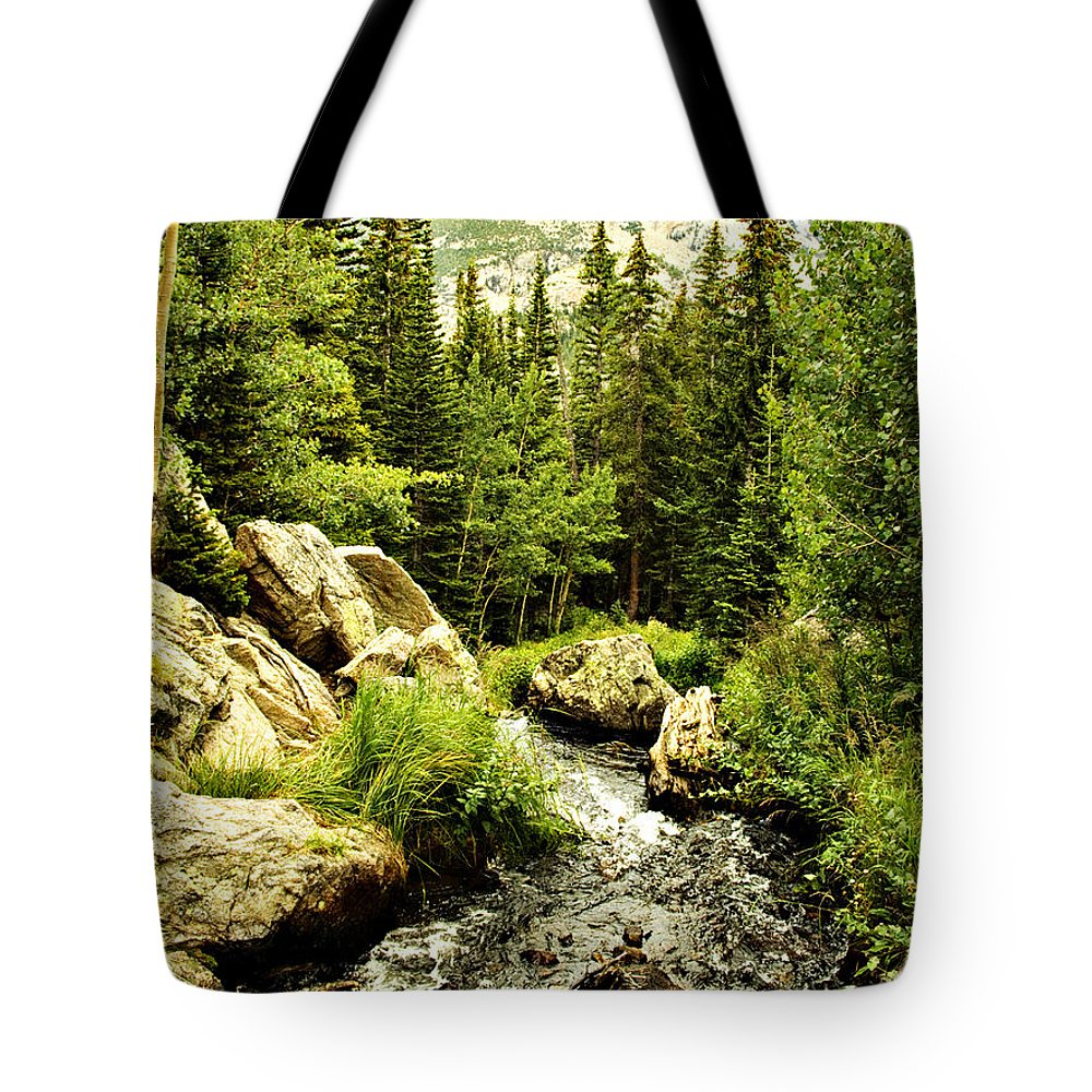 Colorado Tote Bag featuring the photograph Running River by Marilyn Hunt