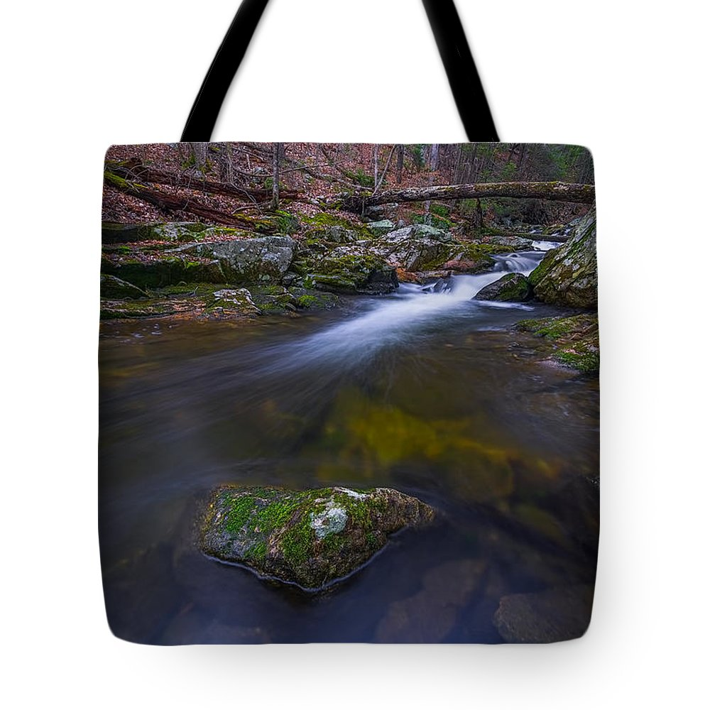 Mist Tote Bag featuring the photograph Runoff by Lechmoore Simms