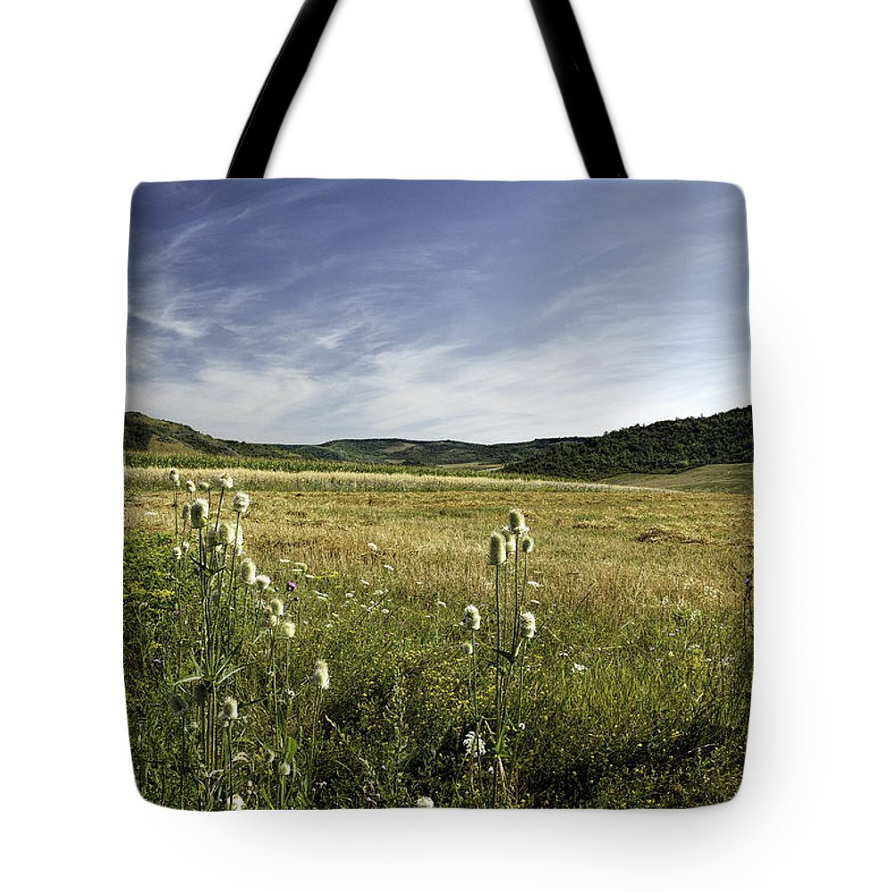 Green Tote Bag featuring the photograph Rural Scenic Landscape by Zoltan Albertini