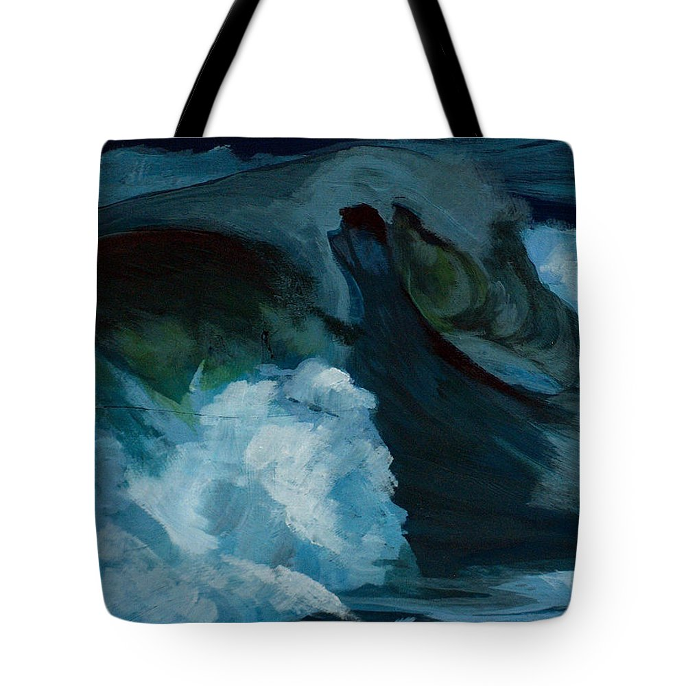 Waves Tote Bag featuring the painting Rush by Racquel Morgan
