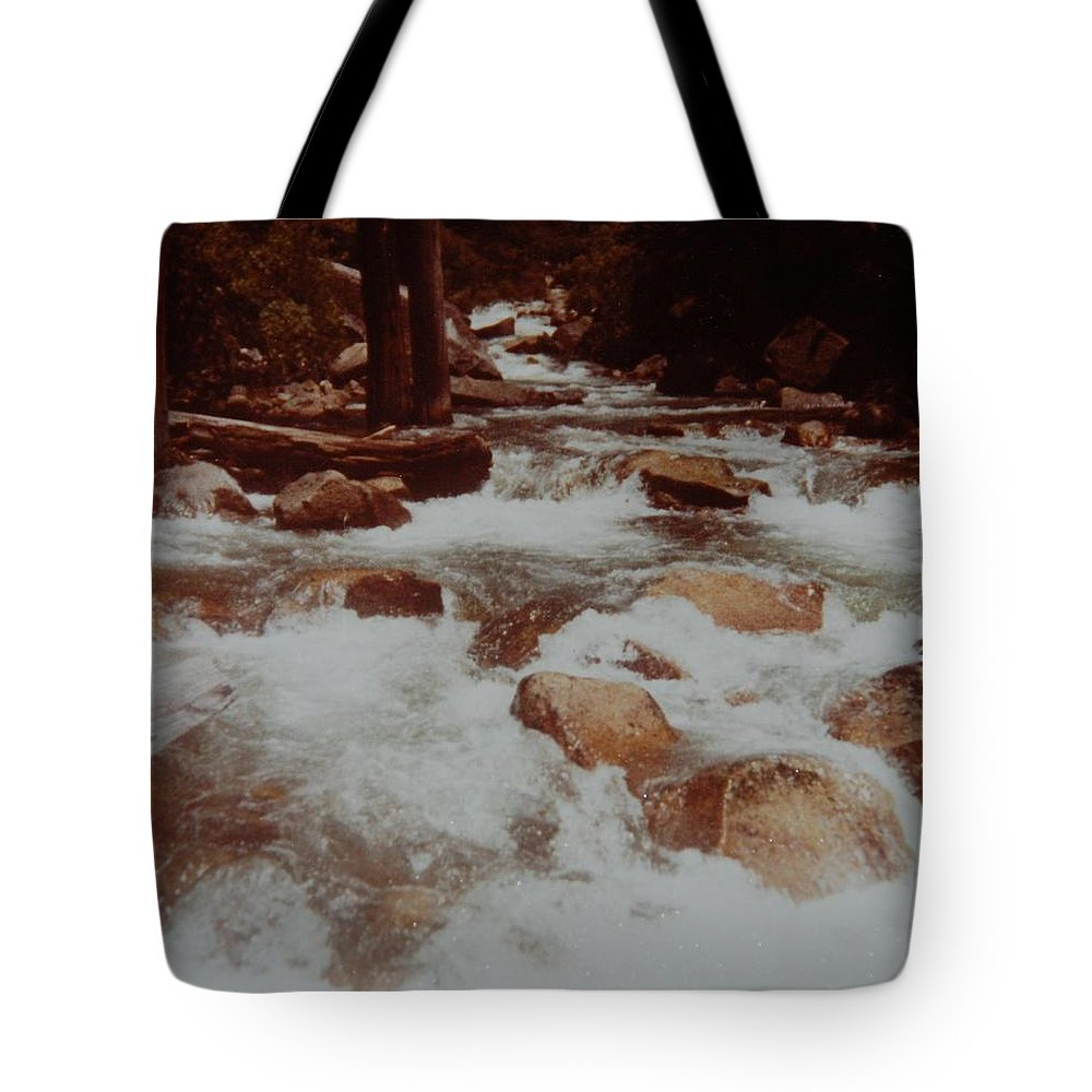 Water Tote Bag featuring the photograph Rushing Water by Rob Hans