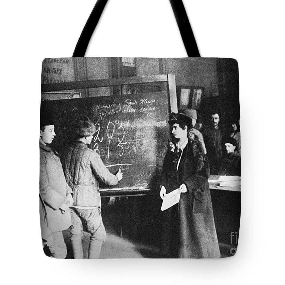 1917 Tote Bag featuring the photograph Russia: Students, 1917 by Granger