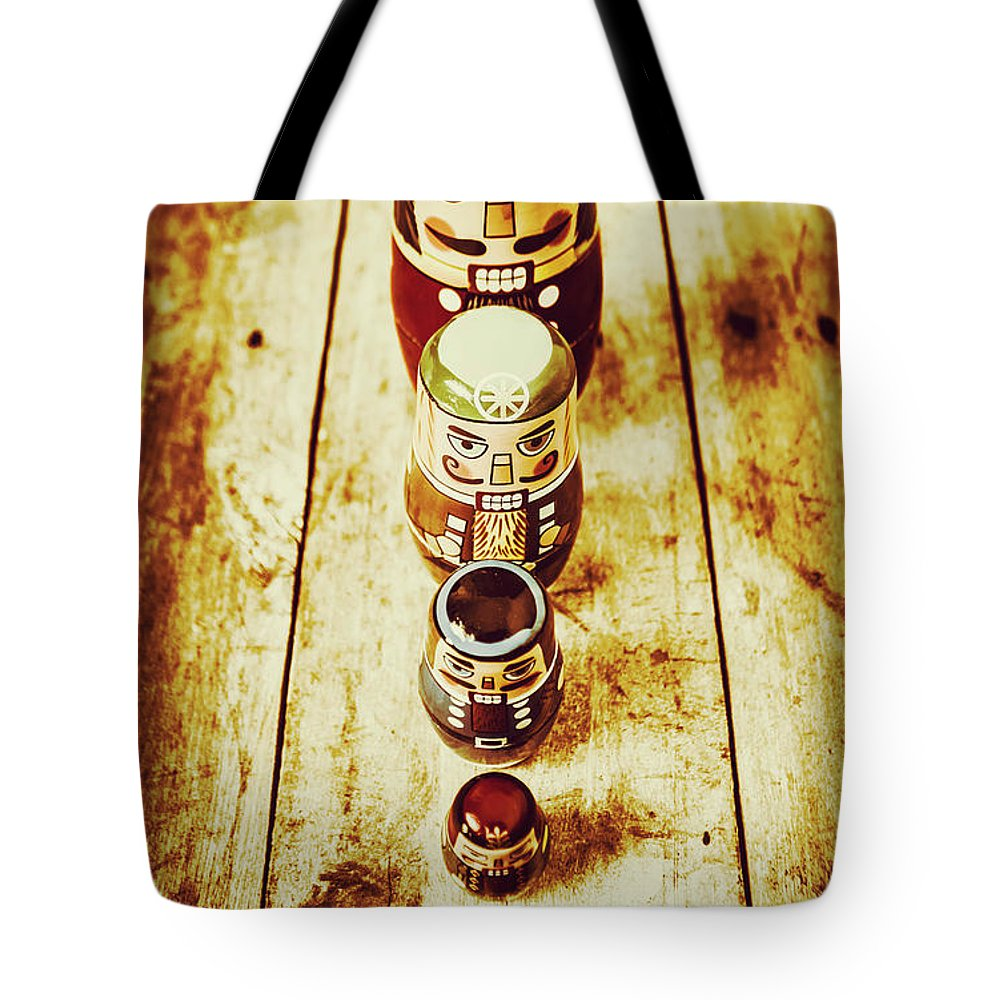 Russian Dolls Tote Bag featuring the photograph Russian Doll Art by Jorgo Photography - Wall Art Gallery