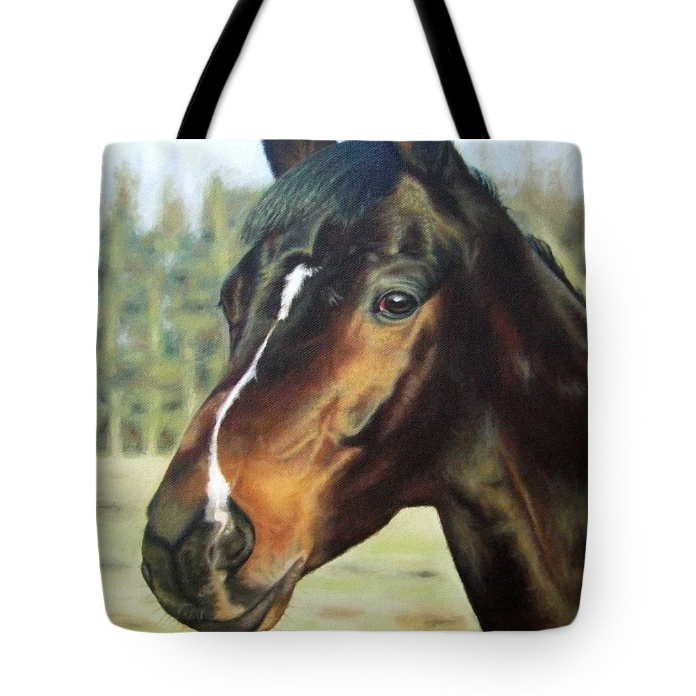 Horse Tote Bag featuring the painting Russian Horse by Nicole Zeug