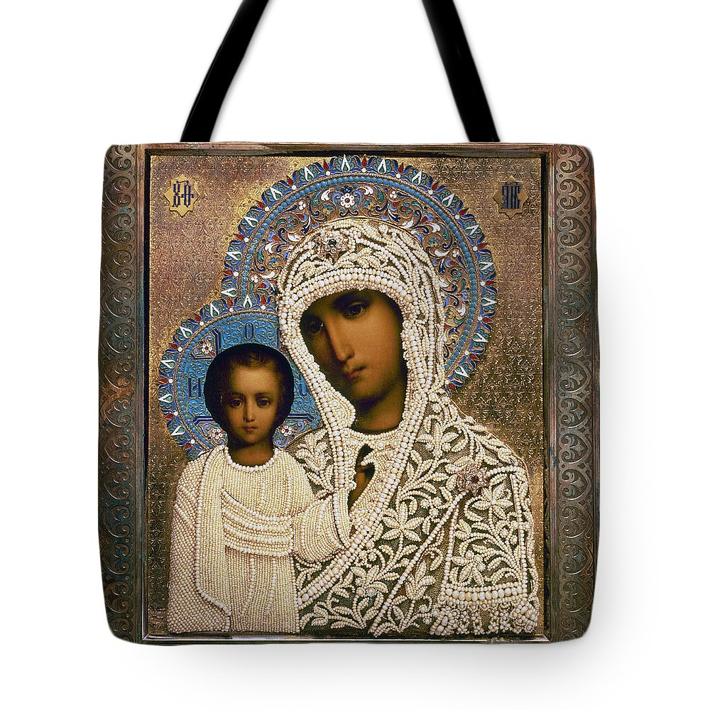 1896 Tote Bag featuring the photograph Russian Icon: Mary by Granger