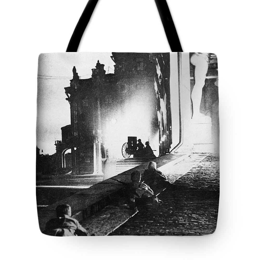 1917 Tote Bag featuring the photograph Russian Revolution, 1917 by Granger
