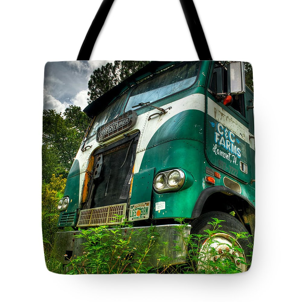 Truck Tote Bag featuring the photograph Rusted And Busted by Rich Leighton