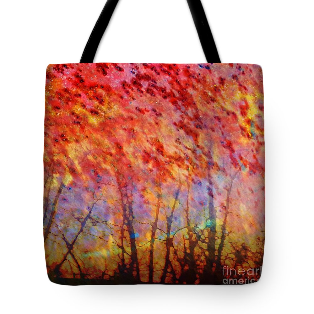 Abstract Art Tote Bag featuring the painting Rusted Glory 311 by Desiree Paquette