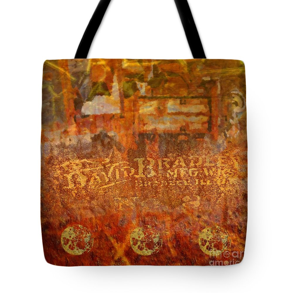 Abstract Art Tote Bag featuring the painting Rusted Glory 313 by Desiree Paquette
