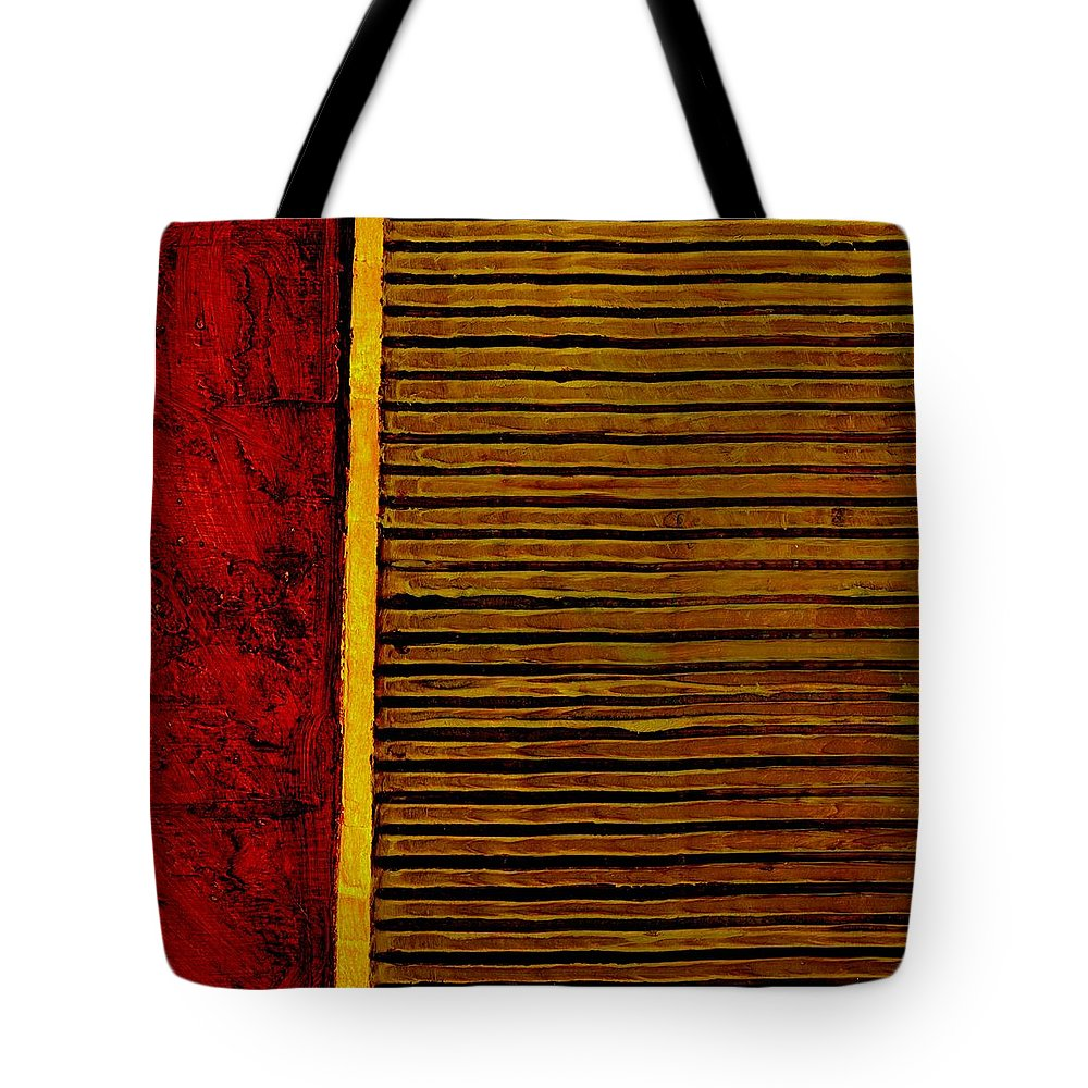 Rustic Tote Bag featuring the painting Rustic Abstract One by Michelle Calkins