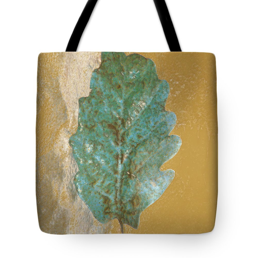 Leaves Tote Bag featuring the photograph Rustic Leaf by Linda Sannuti