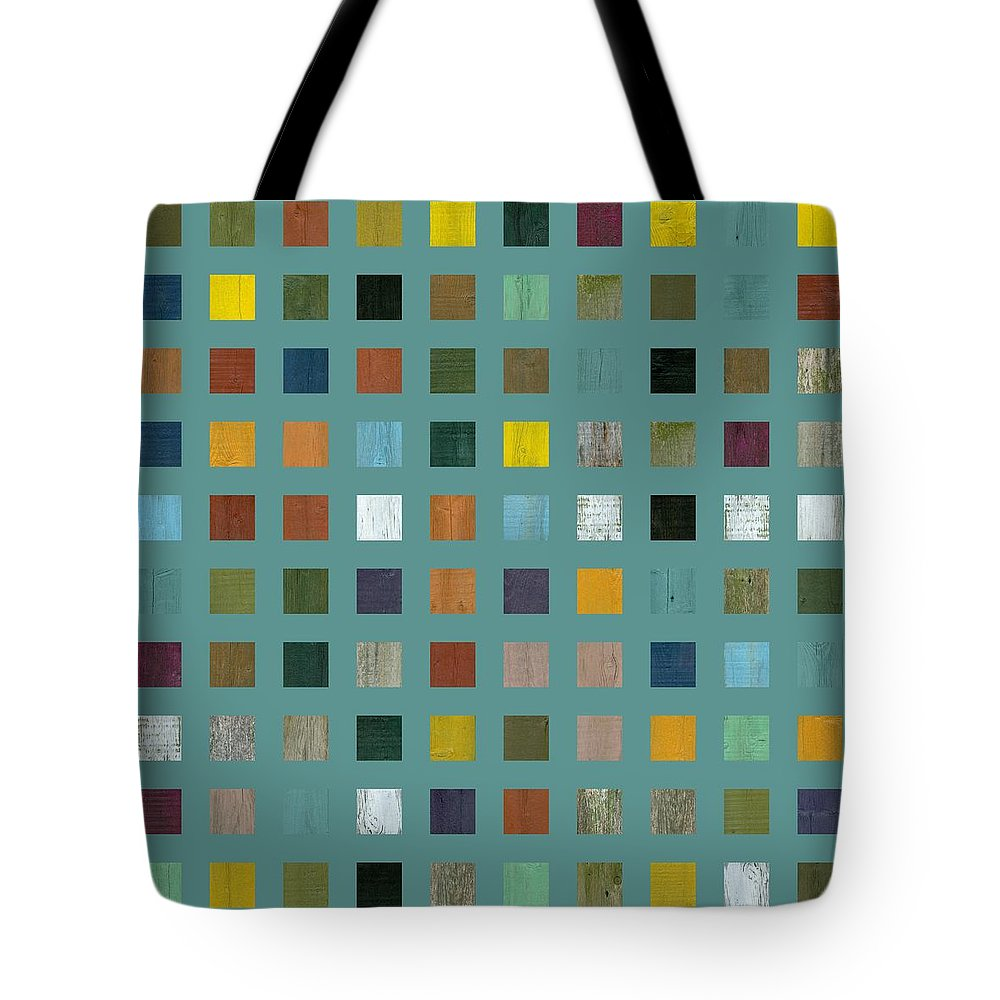 Abstract Tote Bag featuring the digital art Rustic Wooden Abstract Vl by Michelle Calkins