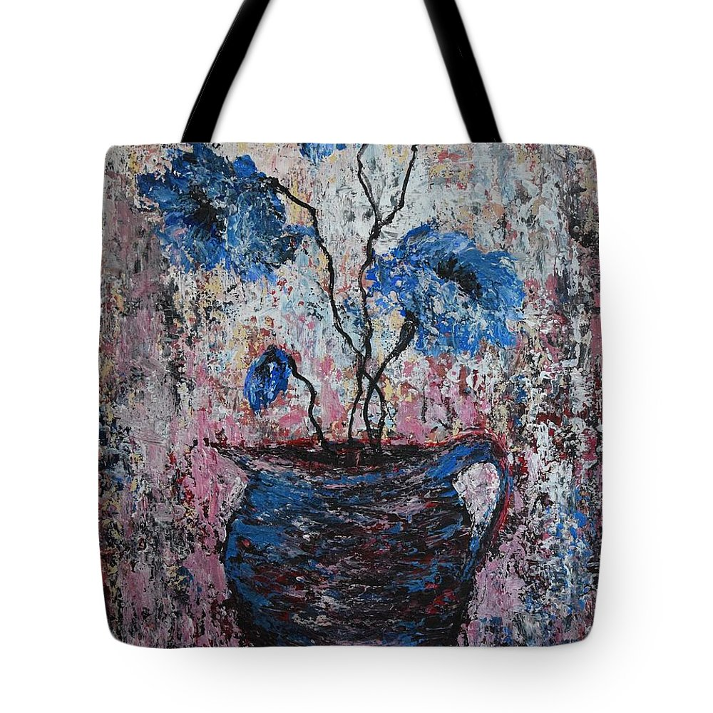 Poppies Tote Bag featuring the painting Rustikal by Andreea Moldovan