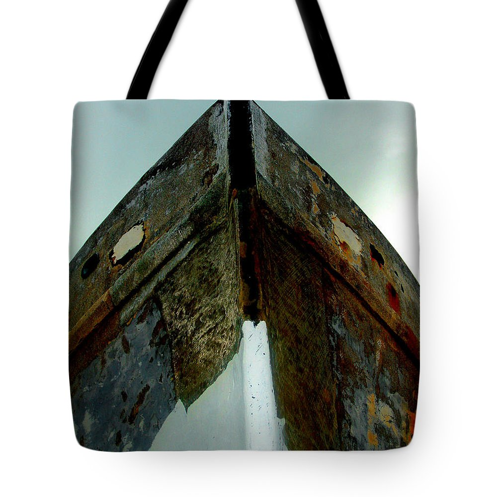 Boat Tote Bag featuring the photograph Rusty Bow by Susanne Van Hulst