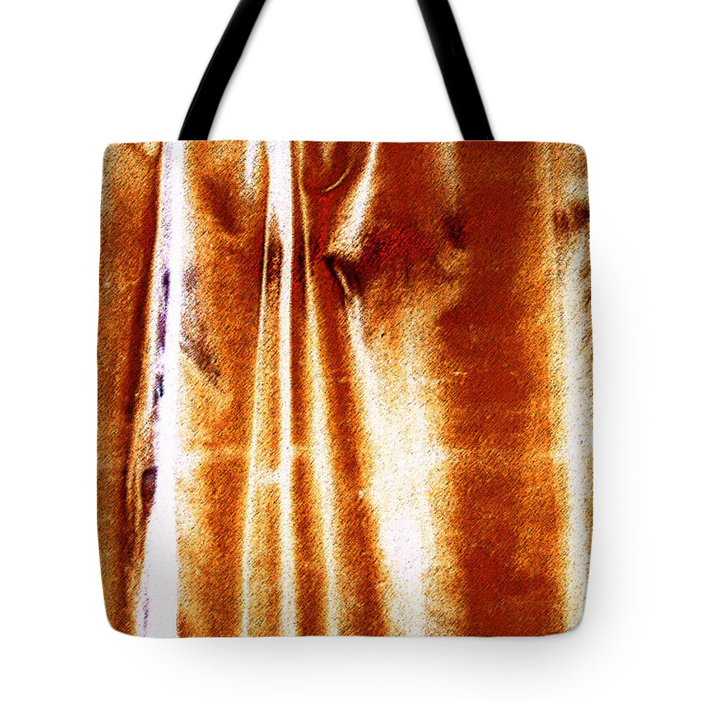 Abstract Tote Bag featuring the photograph Rusty by Carl Ellis