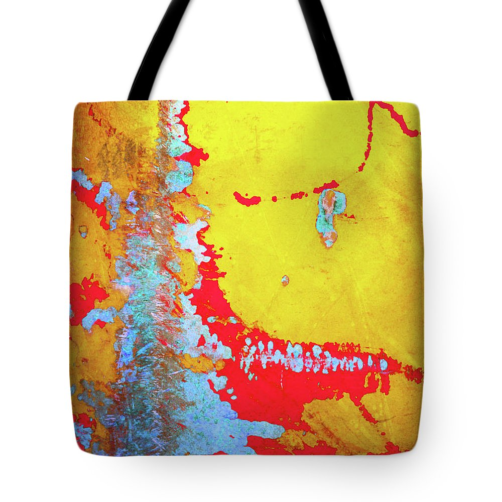 Abstract Tote Bag featuring the photograph Rusty Expressions by Tara Turner