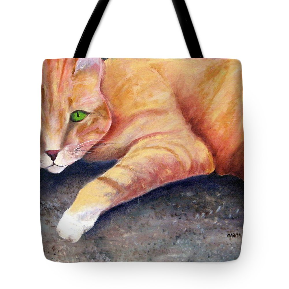 Rusty Tote Bag featuring the painting Rusty by Marita McVeigh