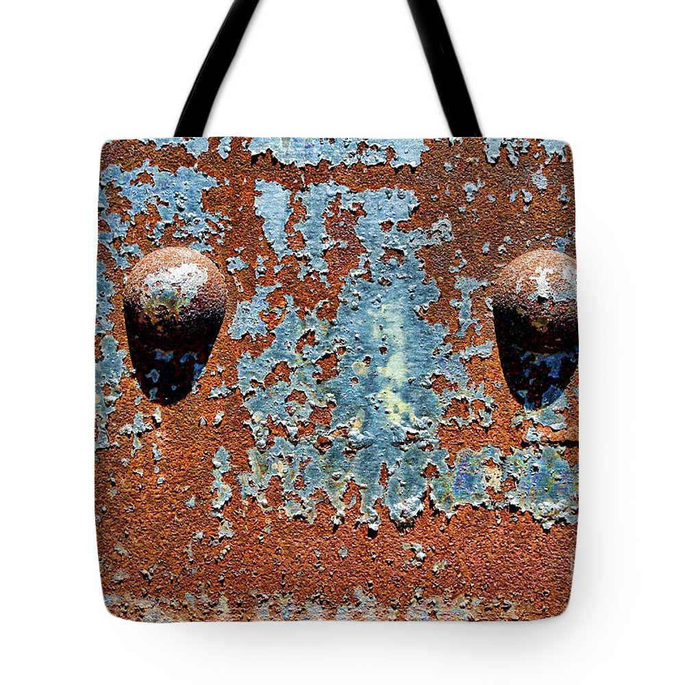 Rivet Tote Bag featuring the photograph Rusty Rivets by Olivier Le Queinec