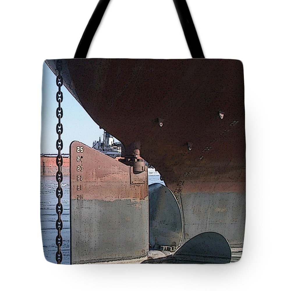 Prop Tote Bag featuring the photograph Ryerson Prop by Tim Nyberg