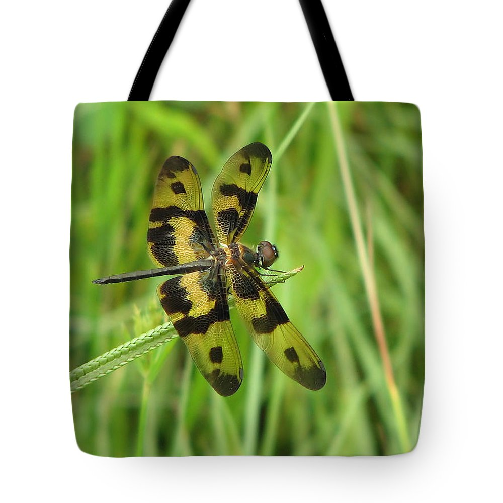 Dragonfly Tote Bag featuring the photograph Ryothemis Dragonfly by Bob Kemp