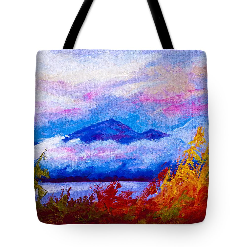Alaska Tote Bag featuring the painting Rythmn Of The Arctic by Marion Rose