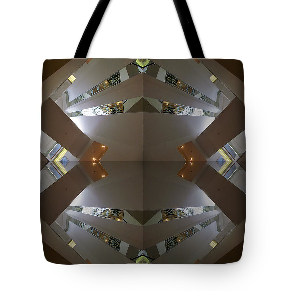 San Francisco Tote Bag featuring the photograph S F N M Architecture 4 by Tina M Wenger