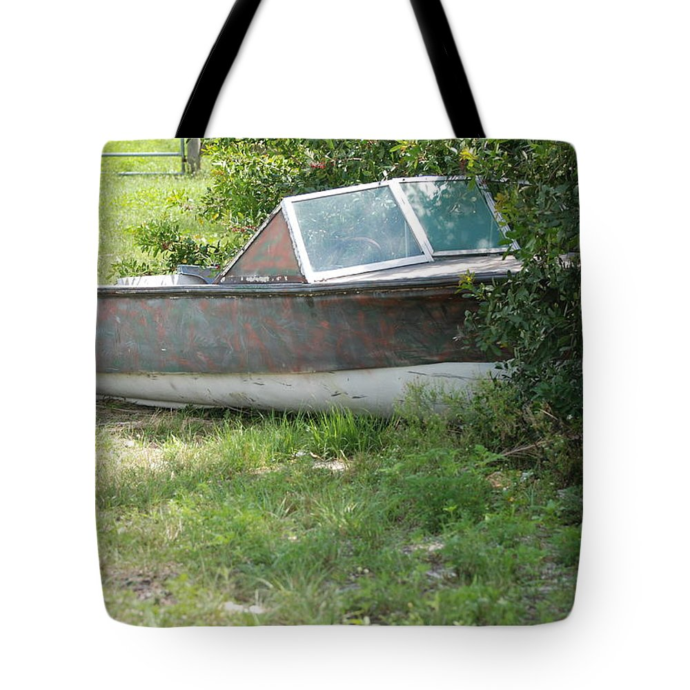 Boat Tote Bag featuring the photograph S S Minnow by Rob Hans