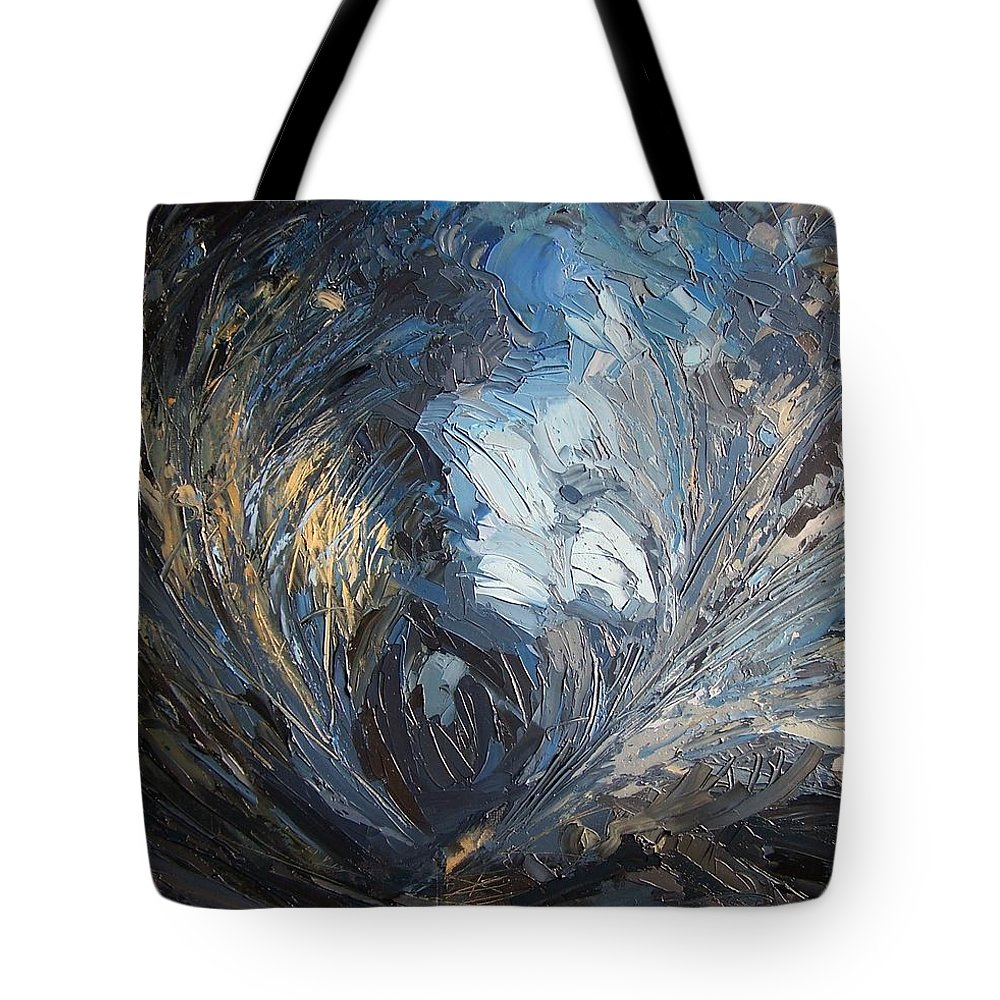 Stargazing Tote Bag featuring the painting Stargazing by Roland Kay