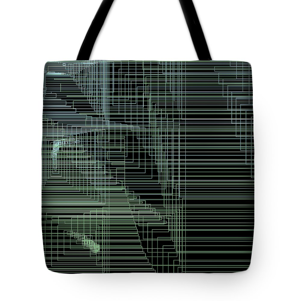 Abstract Tote Bag featuring the digital art S.4.12 by Gareth Lewis