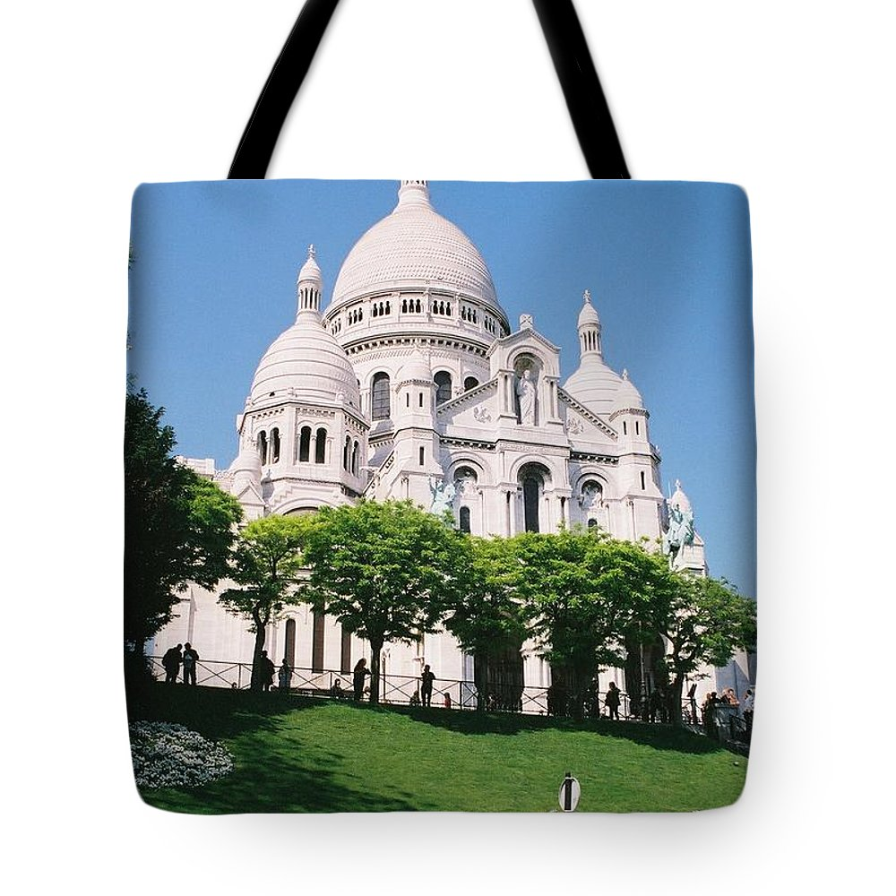 Church Tote Bag featuring the photograph Sacre Coeur by Nadine Rippelmeyer