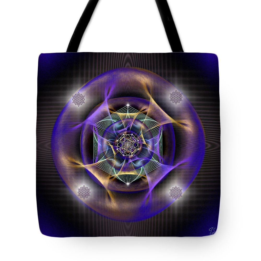 Endre Tote Bag featuring the digital art Sacred Geometry 554 by Endre Balogh
