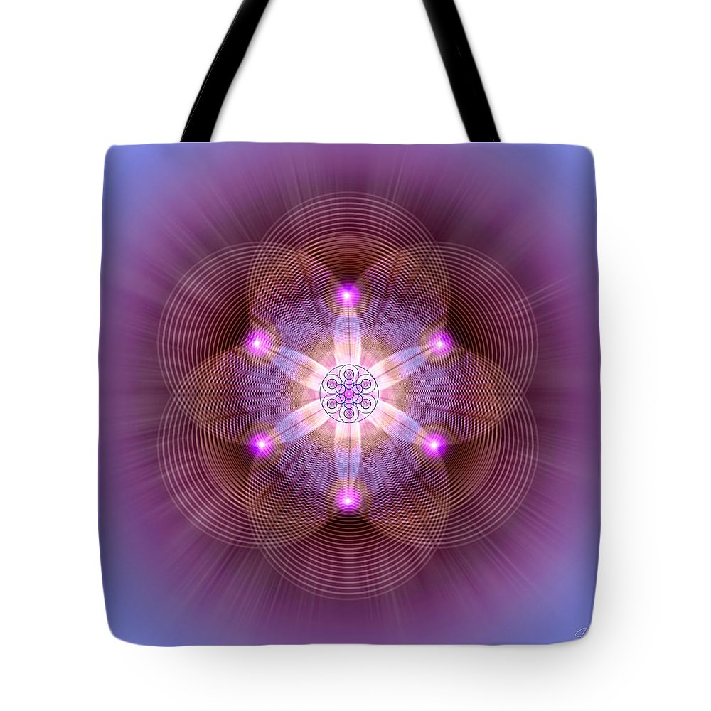 Endre Tote Bag featuring the digital art Sacred Geometry 82 by Endre Balogh