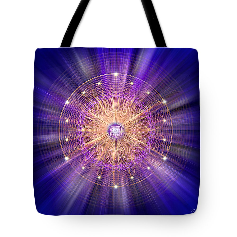 Endre Tote Bag featuring the digital art Sacred Geometry 94 by Endre Balogh
