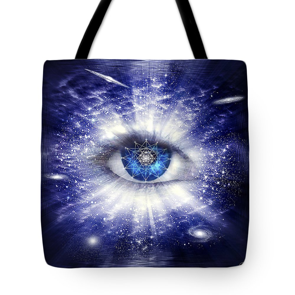 Endre Tote Bag featuring the digital art Sacred Geometry 95 by Endre Balogh