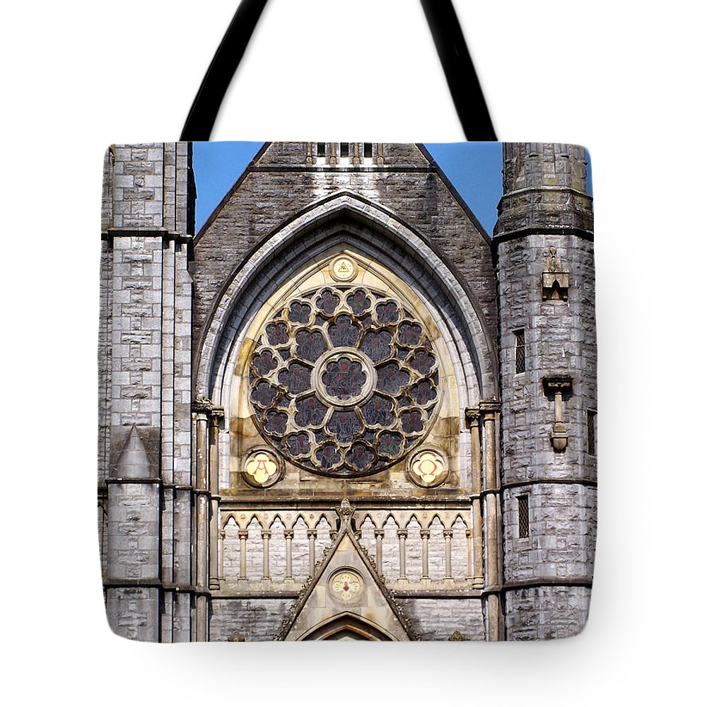 Ireland Tote Bag featuring the photograph Sacred Heart Church Detail Roscommon Ireland by Teresa Mucha