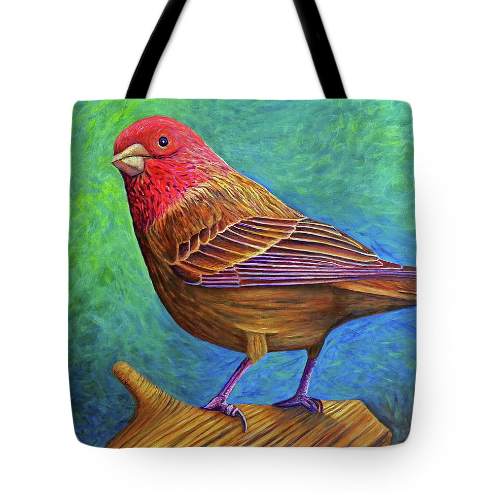 Bird Tote Bag featuring the painting Sacred Space by Brian Commerford