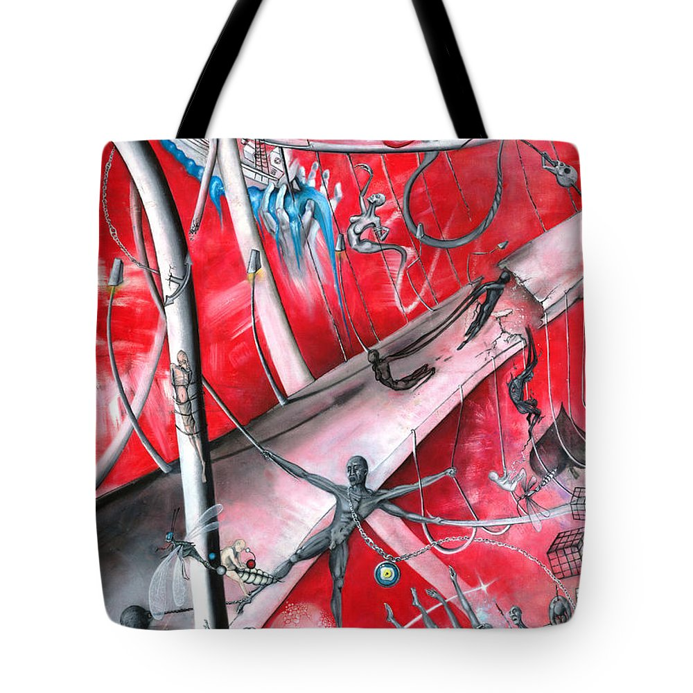 Love Tote Bag featuring the painting Sacrificial Bridge by Arda Erol
