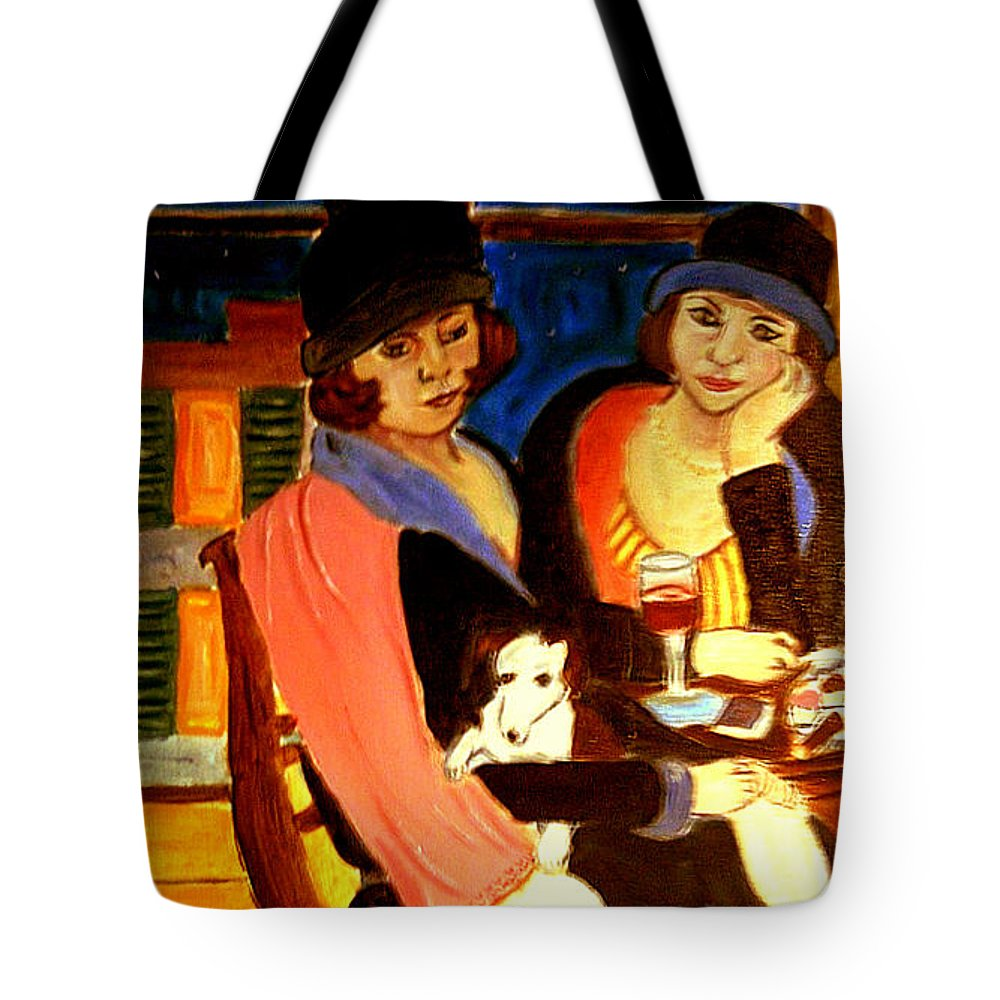 1920s Tote Bag featuring the painting Sad Cafe by Rusty Gladdish