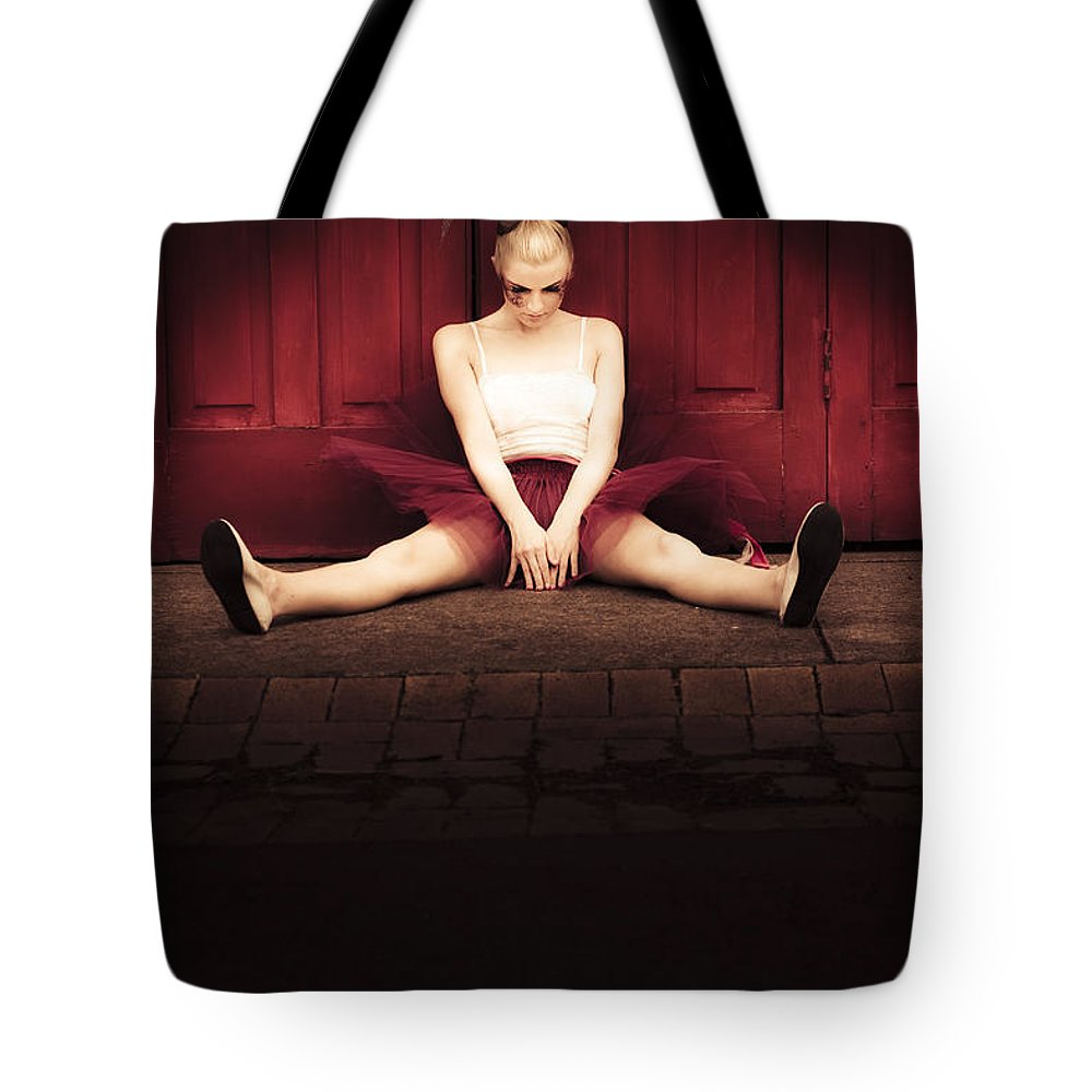Attractive Tote Bag featuring the photograph Sad Dancer by Jorgo Photography - Wall Art Gallery