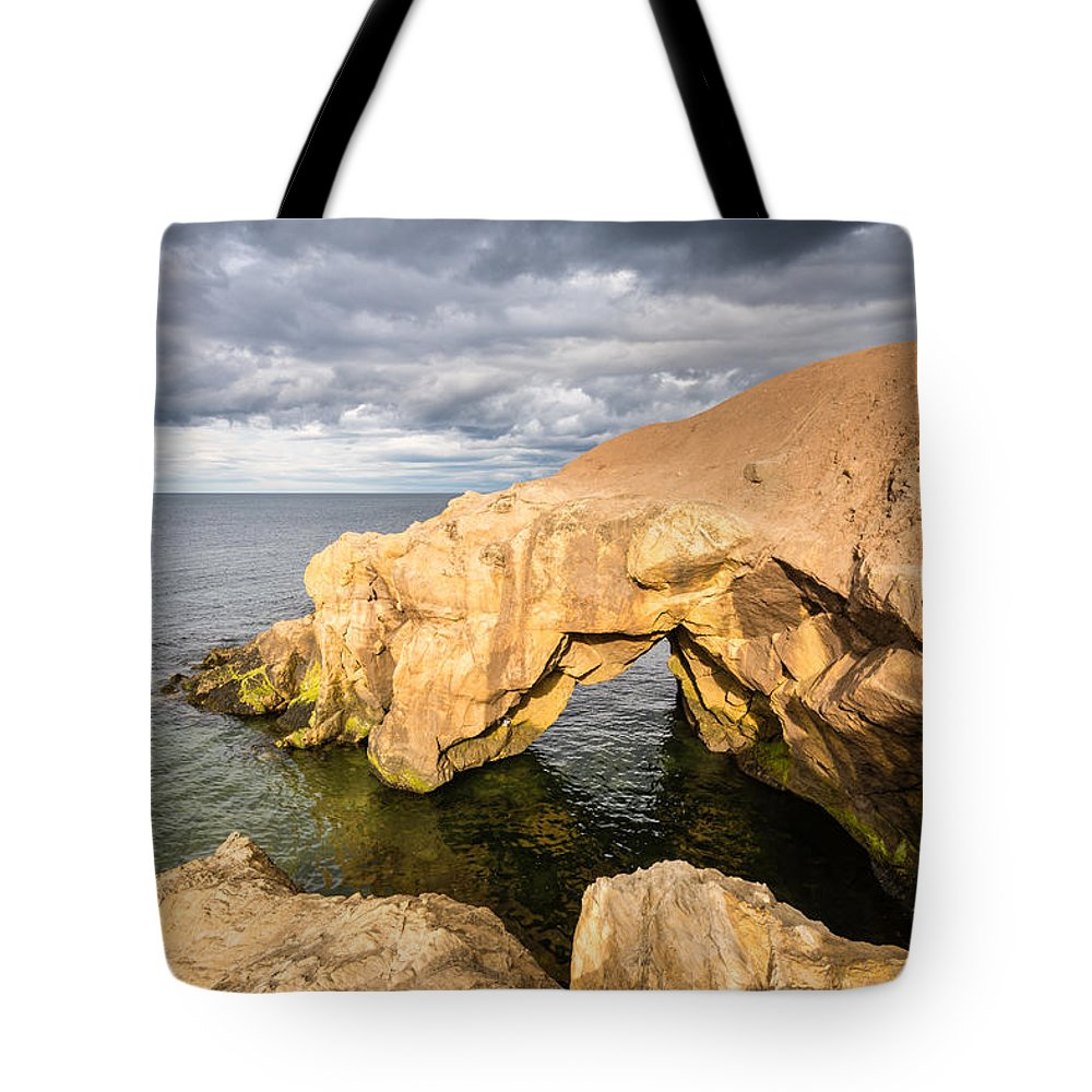 Bay Tote Bag featuring the photograph Saddle Rocks At High Tide by David Head