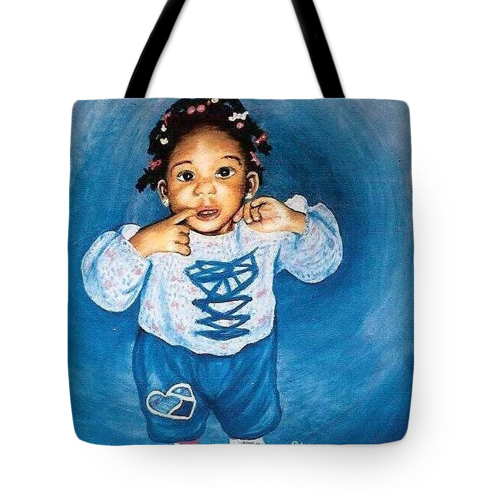 Child Tote Bag featuring the pastel Sadie by Gale Cochran-Smith
