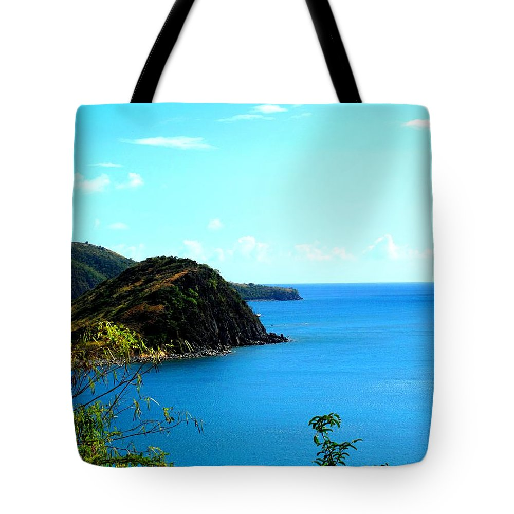 St Kitts Tote Bag featuring the photograph Safe Harbor by Ian MacDonald