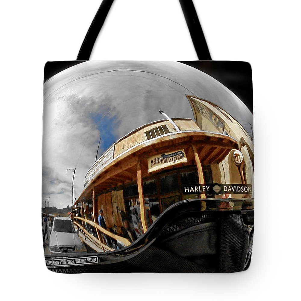 Harley Tote Bag featuring the photograph Safety Is Sexy by Christine Till