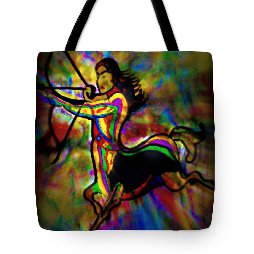 Sagittarius Tote Bag featuring the painting Sagittarius by Wbk
