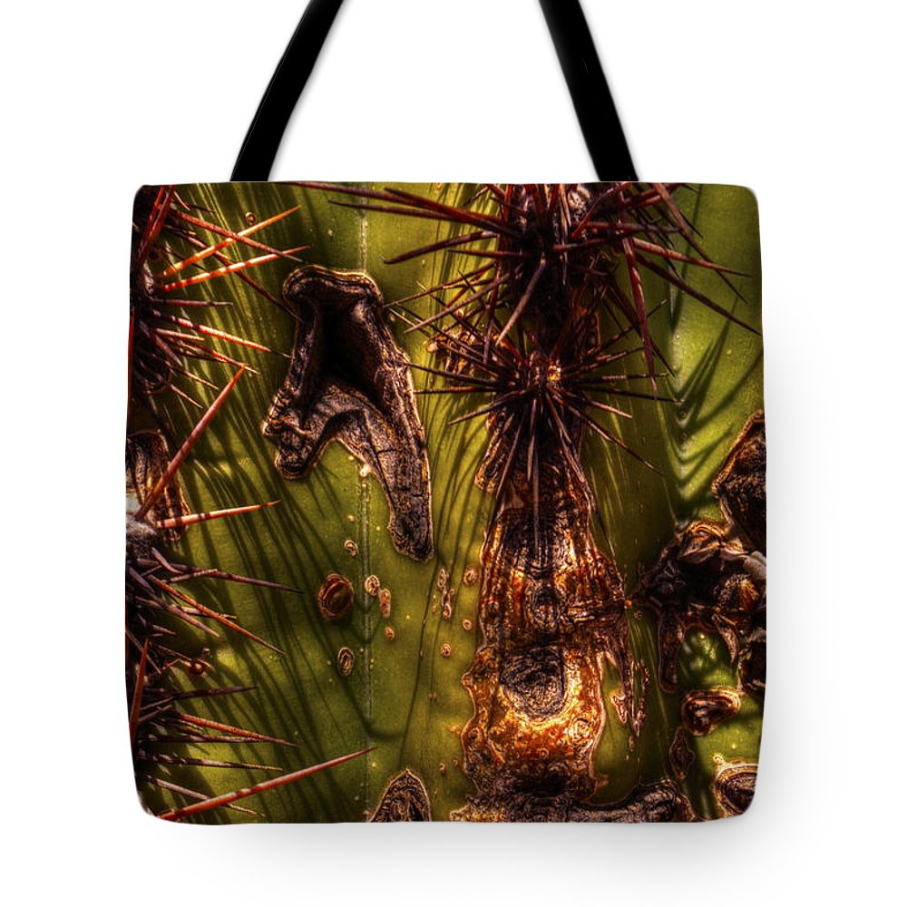 Saguaro Tote Bag featuring the photograph Saguaro Detail No. 21 by Roger Passman