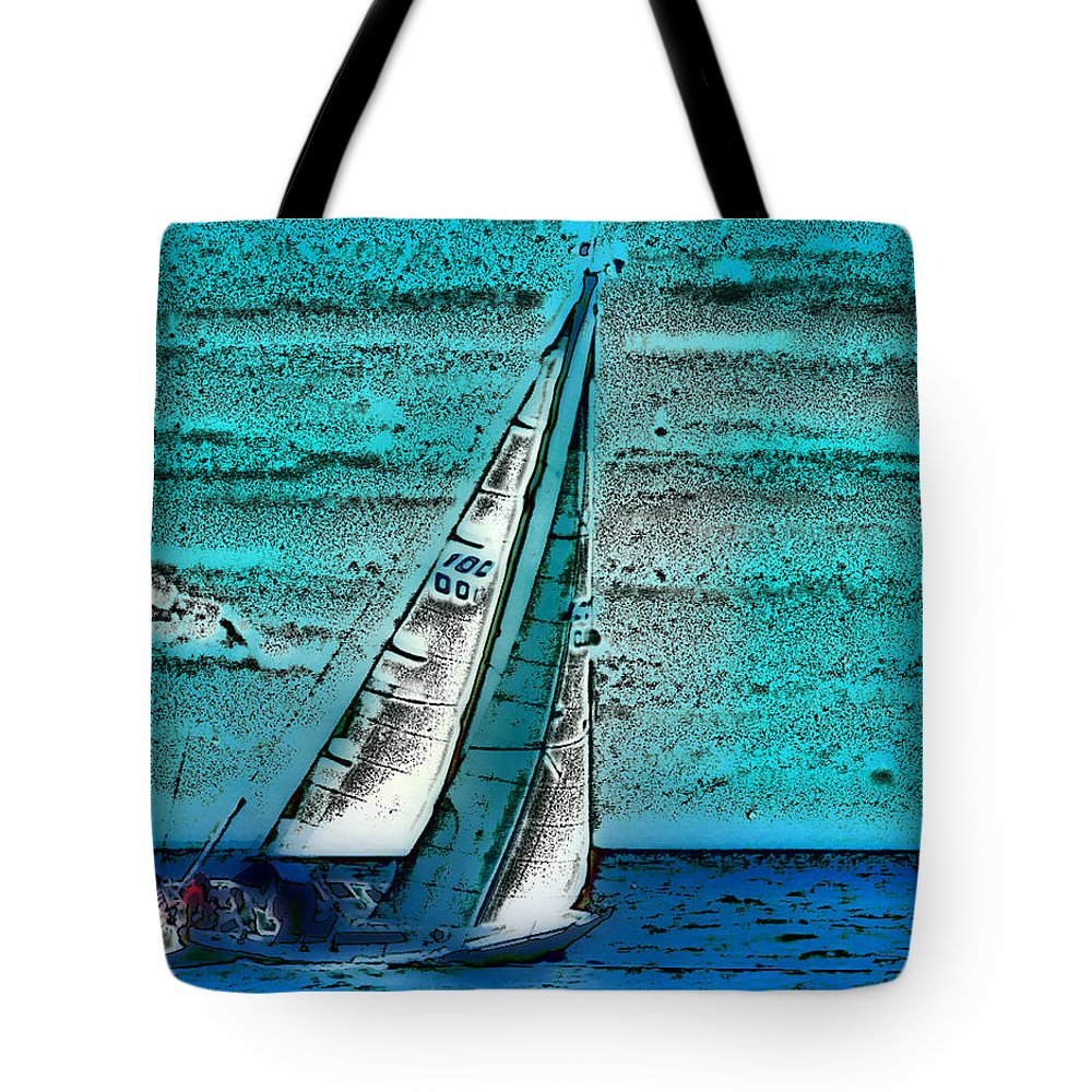 Ebsq Tote Bag featuring the photograph Sail Away by Dee Flouton