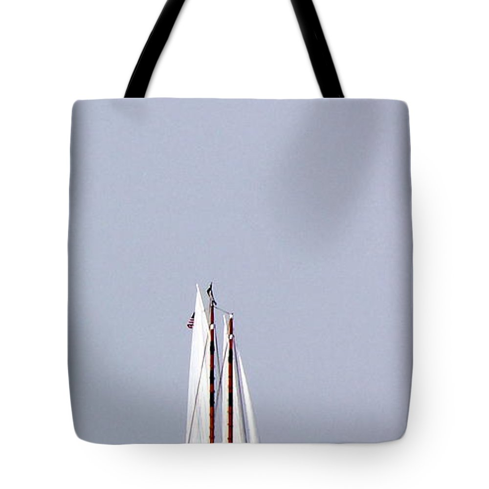 Sail Tote Bag featuring the photograph Sail Boat Book Marker by Ed Smith