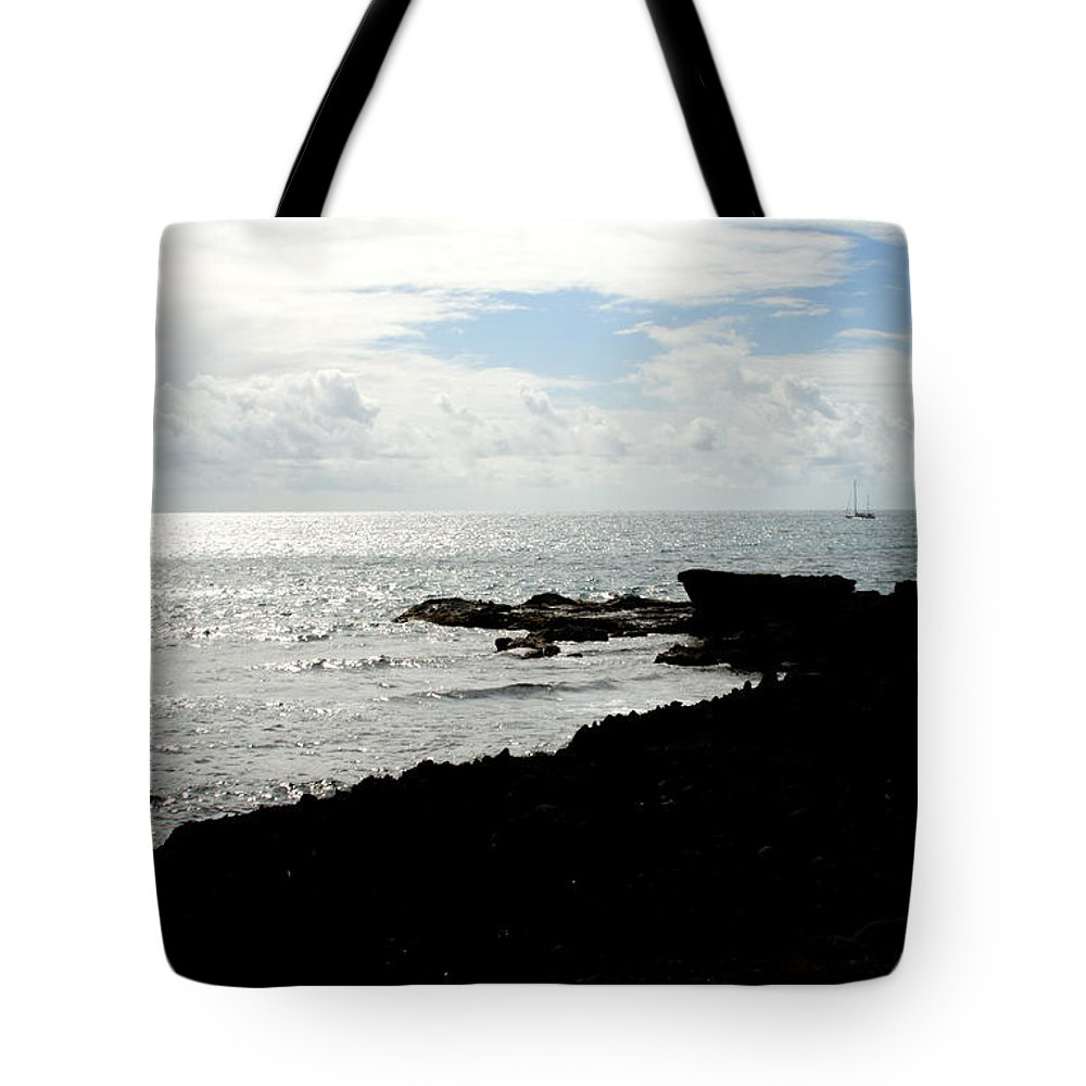 Sailboat Tote Bag featuring the photograph Sailboat At Point by Jean Macaluso