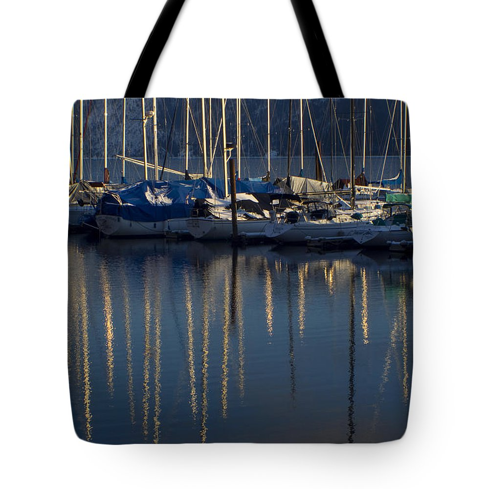 Mast Tote Bag featuring the photograph Sailboat Reflections by Idaho Scenic Images Linda Lantzy