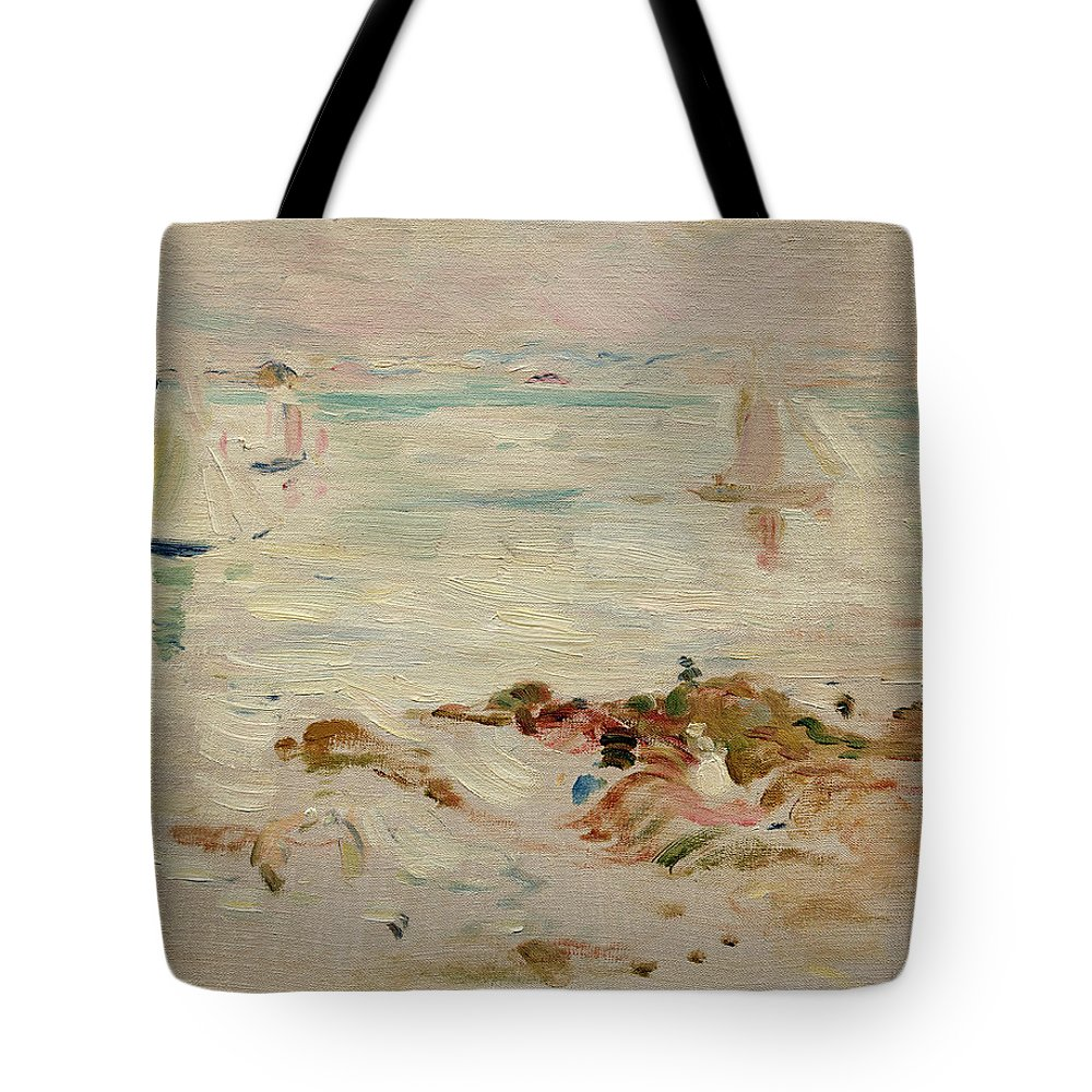 Sailboats Tote Bag featuring the painting Sailboats by Berthe Morisot